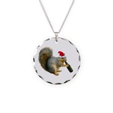 Santa Squirrel Beer Necklace