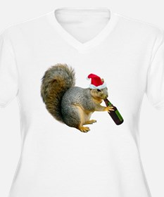 Santa Squirrel Beer T-Shirt