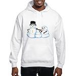 Snow family by Kristie Hubler Hooded Sweatshirt