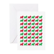 Bulldog Christmas or Holiday Silhouette Greeting C