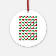 Bulldog Christmas or Holiday Silhouette Ornament (