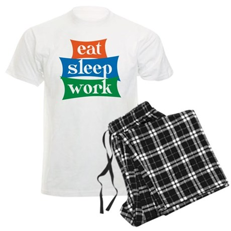 eat, sleep, work Men's Light Pajamas
