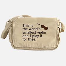 The world's smallest violin. Messenger Bag