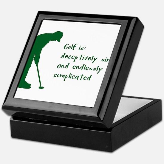 Golf Keepsake Box