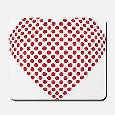 A heart made from golf ball divots Mousepad