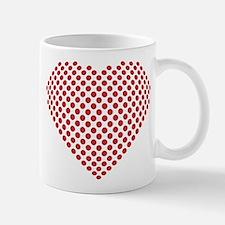 A heart made from golf ball divots Small Small Mug