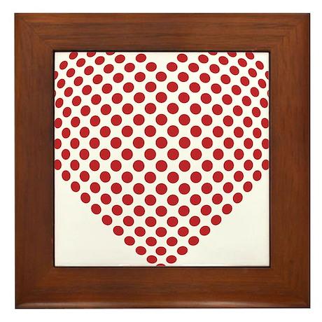 A heart made from golf ball divots Framed Tile