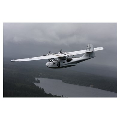 PBY Catalina vintage flying boat Poster