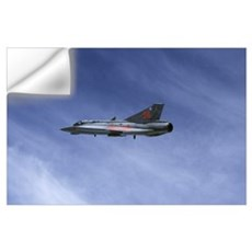 Saab 35 Draken fighter of the Swedish Air Force Hi Wall Decal