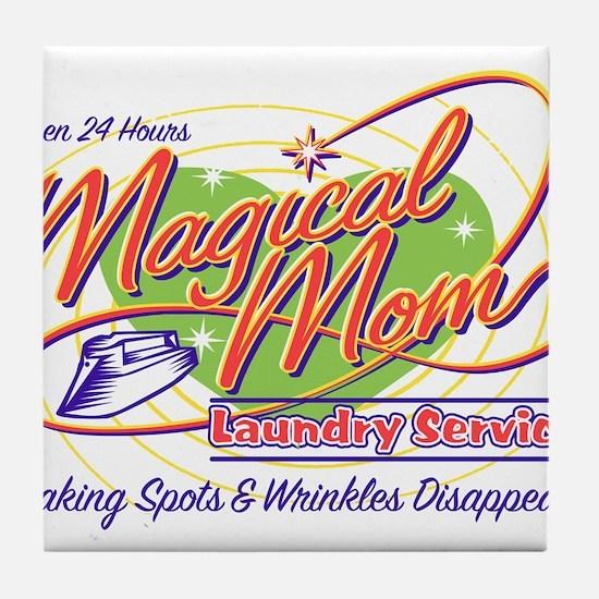 Magical Mom Laundry Tile Coaster