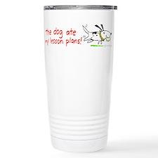 Cute Lesson plan Travel Mug