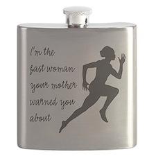 Fast Woman (black) Flask