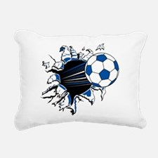 Soccer Ball Burst Rectangular Canvas Pillow