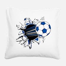 Soccer Ball Burst Square Canvas Pillow
