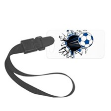 Soccer Ball Burst Luggage Tag