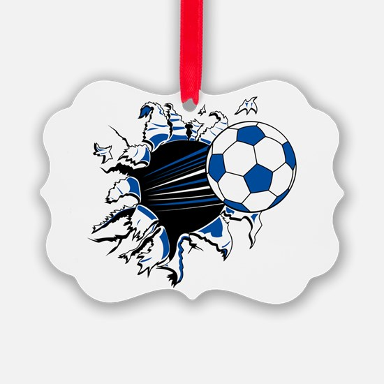 Soccer Ball Burst Ornament