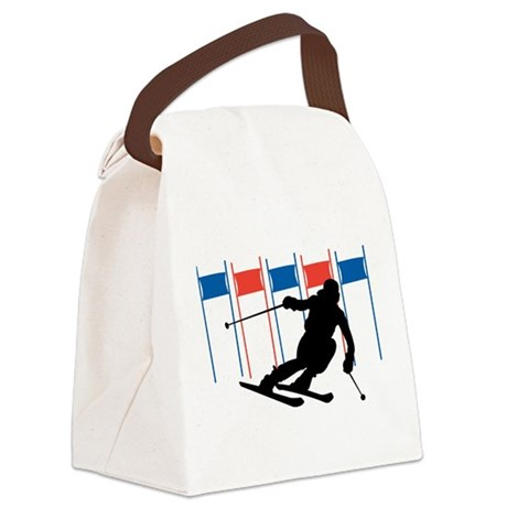 Ski Competition Canvas Lunch Bag