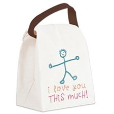 I Love You This Much Dark.png Canvas Lunch Bag
