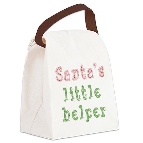 Santas Little Helper.png Canvas Lunch Bag
