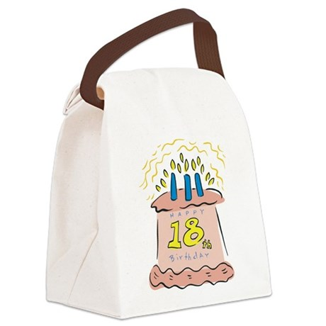 18th birthday cake.png Canvas Lunch Bag