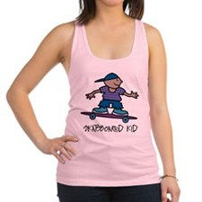 Skateboard Kid Racerback Tank Top