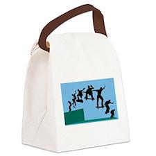 Skateboard Evolution Canvas Lunch Bag