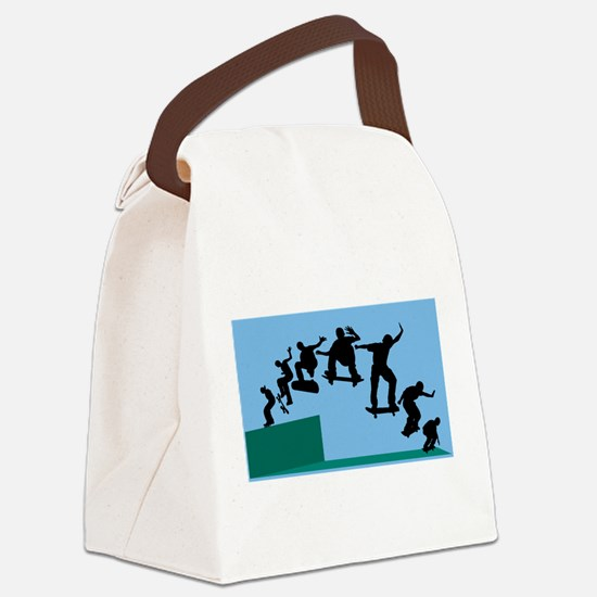 Skateboard Evolution Canvas Lunch Bag