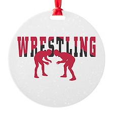 Wrestling 2 Round Ornament