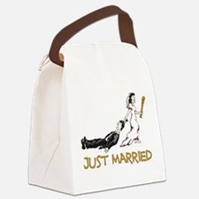 Just Married Beat Up white only.png Canvas Lunch B