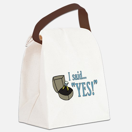 saidyes.png Canvas Lunch Bag