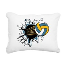 Volley Ball Burst Rectangular Canvas Pillow
