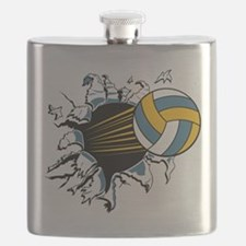 Volley Ball Burst Flask