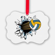 Volley Ball Burst Picture Ornament