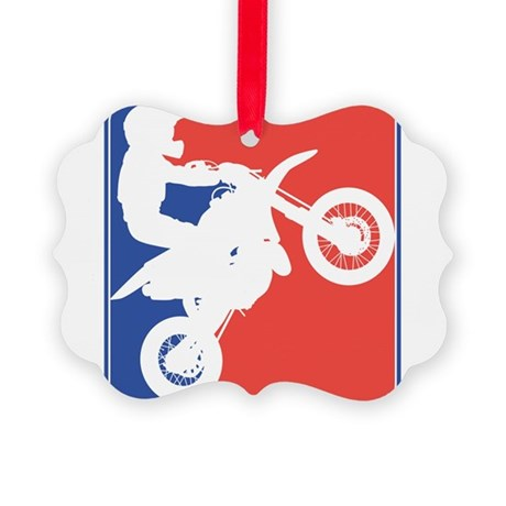 PeeWee Motocross Picture Ornament