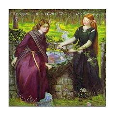 Rachel and Leah Tile Coaster