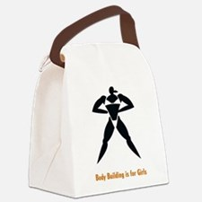 Body Building is for Girls Canvas Lunch Bag
