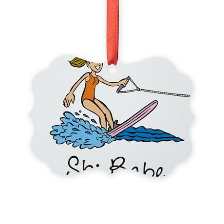 Ski Babe Picture Ornament