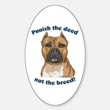 Staffy Anti-BSL Oval Decal