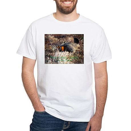 White T-Shirt/Prairie Chicken