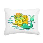 Kitty Mermaid Rectangular Canvas Pillow