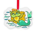 Kitty Mermaid Picture Ornament