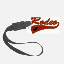 Rodeo Bull Rider Luggage Tag