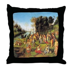 The Court of Isabella Throw Pillow