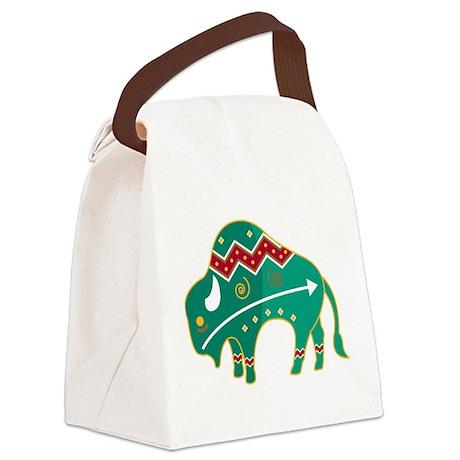 Indian Spirit Buffalo Canvas Lunch Bag