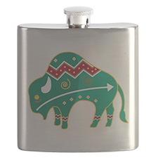 Indian Spirit Buffalo Flask