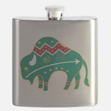 Indian Spirit Buffalo Flask