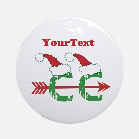 Customize Cross Country Xmas Ornament (Round)