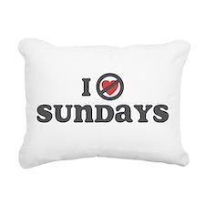 I Dont Heart sundays.png Rectangular Canvas Pillow