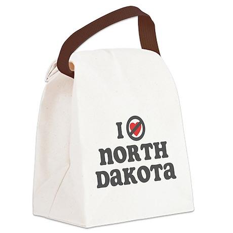 I Dont Heart North Dakota.png Canvas Lunch Bag