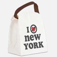 I Dont Heart New York.png Canvas Lunch Bag